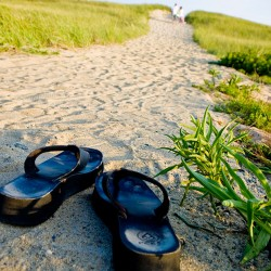 southbeach dunes with flipflops