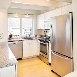 View of Appliances & Island in Kitchen of D6 Mattakesett Townhouse Plus Loft