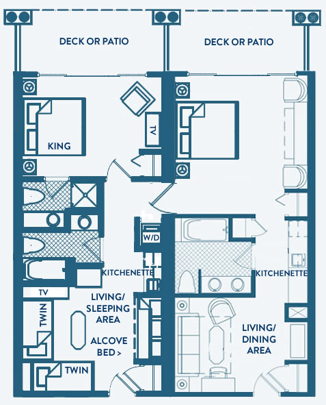 Great Point Suite Floorplan