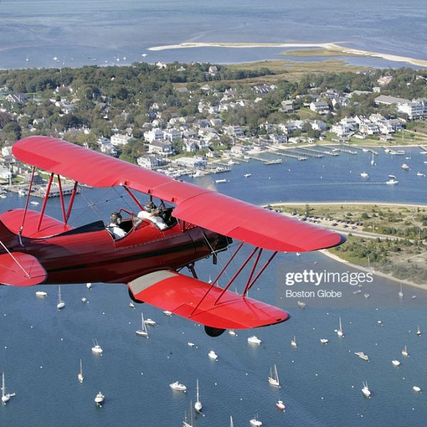 MARTHA'S VINEYARD - SEPTEMBER 30: At Katama Airfield in Edgartown, one can buy ticket for a biplane ride along the scenic coast of the island. (Photo by Mark Wilson/The Boston Globe via Getty Images)